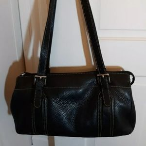 Fossil leather satchel shoulder bag